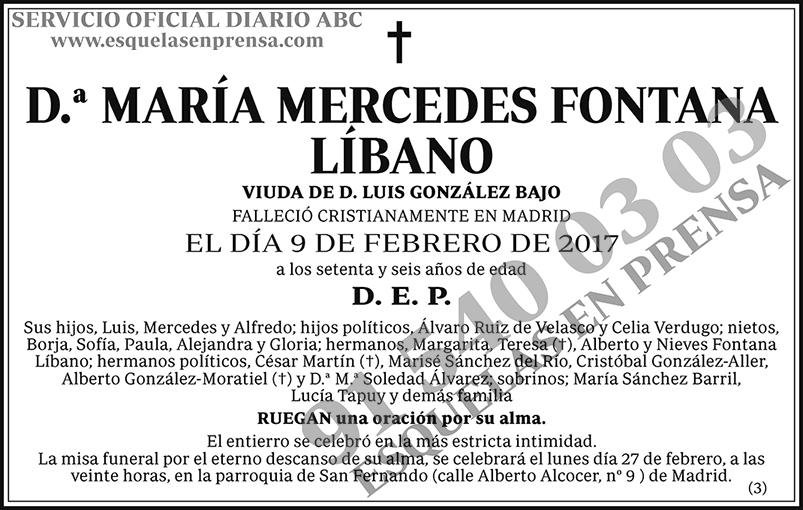 María Mercedes Fontana Líbano